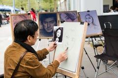 Peintre de rue Images libres de droits