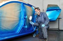 Peintre de voiture de Profesional. Image libre de droits
