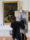 Peintre en auvent, Paris Image libre de droits