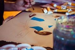 Peintre féminin 1 Photographie stock libre de droits