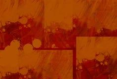 Peintre orange Photographie stock