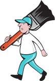 Peintre Paintbrush Walking Cartoon de Chambre Photos libres de droits