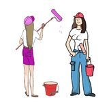 Peintres de filles illustration libre de droits