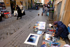 Peintres de rue Images libres de droits