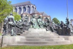 Peintres Hubert et Jan van Eyck de monument Photographie stock