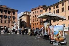 Peintres sur Piazza Navona photos stock