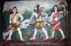 Peinture à Durgiana ou à temple argenté, Amritsar, Pendjab, Inde Images libres de droits