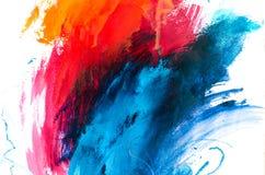 peinture à l'huile abstraite de fond Huile sur la texture de toile Tiré par la main photos libres de droits