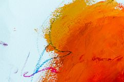 peinture à l'huile abstraite de fond Huile sur la texture de toile Tiré par la main image stock