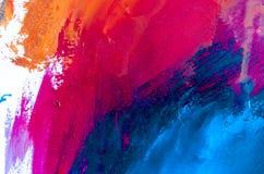 peinture à l'huile abstraite de fond Huile sur la texture de toile Tiré par la main photo libre de droits