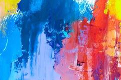 peinture à l'huile abstraite de fond Huile sur la texture de toile Tiré par la main photos stock