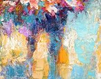 Peinture à l'huile abstraite de texture sur la toile photos libres de droits