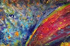 Peinture à l'huile abstraite de texture sur la toile images stock