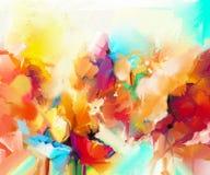 Peinture à l'huile colorée abstraite sur la toile illustration stock