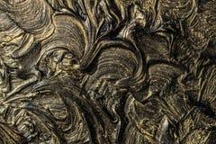 peinture à l'huile d'art Noircissez l'or illustration 3d Abstraction volumétrique Texture Fond illustration libre de droits