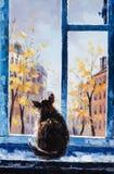 Peinture à l'huile dans la rue, Moscou Photos libres de droits