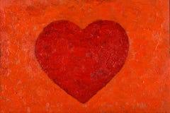 Peinture à l'huile de coeur Image libre de droits