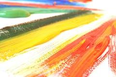 Peinture à l'huile de couleur Images libres de droits