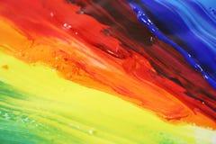 Peinture à l'huile de couleur Photo stock