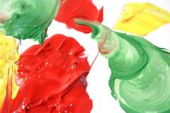 Peinture à l'huile de couleur Photographie stock libre de droits