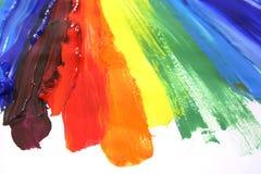 Peinture à l'huile de couleur Image libre de droits