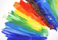 Peinture à l'huile de couleur Images stock