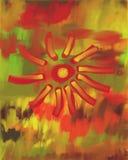 Peinture à l'huile de fleur d'automne illustration stock