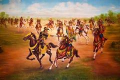 Peinture à l'huile de l'histoire de la Thaïlande Photos libres de droits