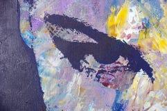 Peinture à l'huile initiale Images stock