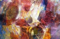 Peinture à l'huile initiale Photo stock