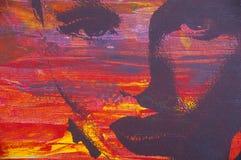 Peinture à l'huile initiale Photos libres de droits