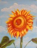 Peinture à l'huile initiale Image stock