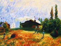 Peinture à l'huile - rentrant à la maison illustration libre de droits