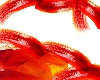 Peinture à l'huile rouge abstraite Images stock