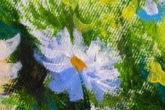 Peinture à l'huile tirée par la main Fond d'art abstrait Peinture à l'huile sur la toile Texture de couleur Fragment d'illustrati image libre de droits
