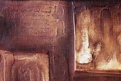 Peinture à l'huile traditionnelle, détail de basrelief Image stock