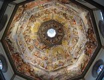 Peinture à l'intérieur du Duomo. Florence, Italie. Image stock