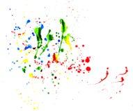 Peinture éclaboussée Photo stock