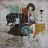 Peinture abstraite images libres de droits