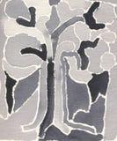 Peinture abstraite - arbre Images libres de droits
