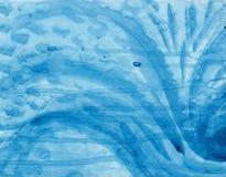 Peinture abstraite bleue Photos libres de droits