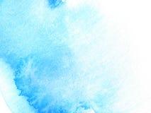 Peinture abstraite bleue de conception de fond d'aquarelle Images libres de droits