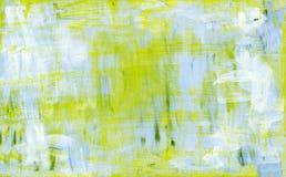 Peinture abstraite bleue et jaune d'acryl Photographie stock libre de droits