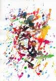 Peinture abstraite colorée Photos libres de droits