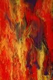 Peinture abstraite colorée images libres de droits