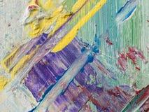 Peinture abstraite d'acrylique et d'aquarelle Backgro de texture de toile Images libres de droits