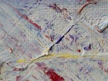 Peinture abstraite d'acrylique et d'aquarelle Backgro de texture de toile Image stock