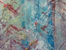 Peinture abstraite d'acrylique et d'aquarelle Backgro de texture de toile Images stock