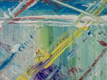 Peinture abstraite d'acrylique et d'aquarelle Backgro de texture de toile Image libre de droits