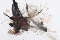 Peinture abstraite de balai Photographie stock libre de droits